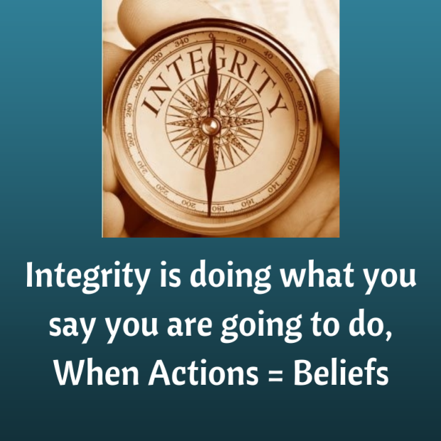 Integrity, easier said than done